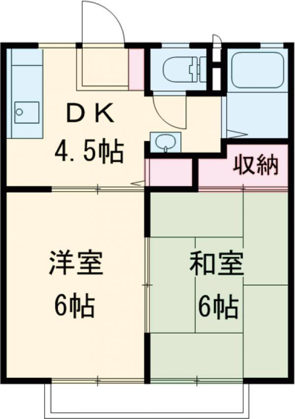 菊地ハイツC・203号室の間取り