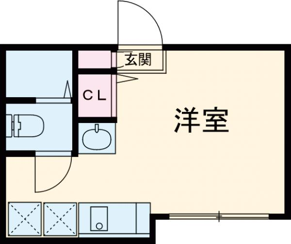 ソルナクレイシア荻窪Ⅱ・205号室の間取り