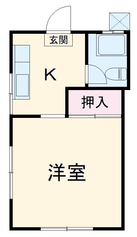 コーポ中村Ⅱ・207号室の間取り