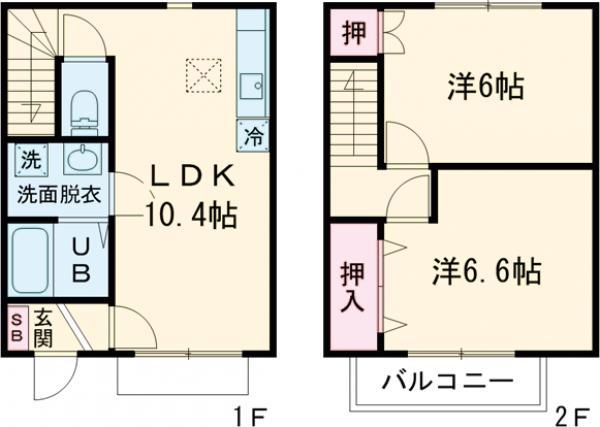 green Roof・105号室の間取り