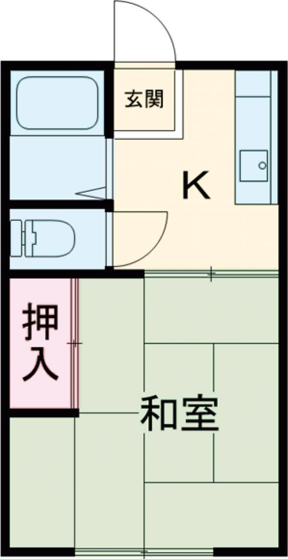緑マンション 105号室の間取り