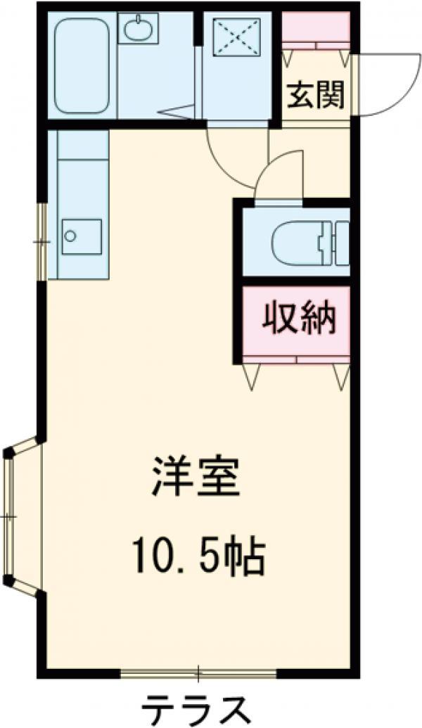 メゾン・ド・ドムール・103号室の間取り