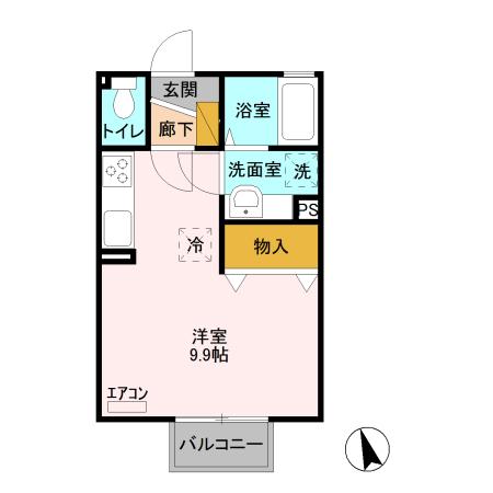 アマービレ マユミ Ⅱ・203号室の間取り