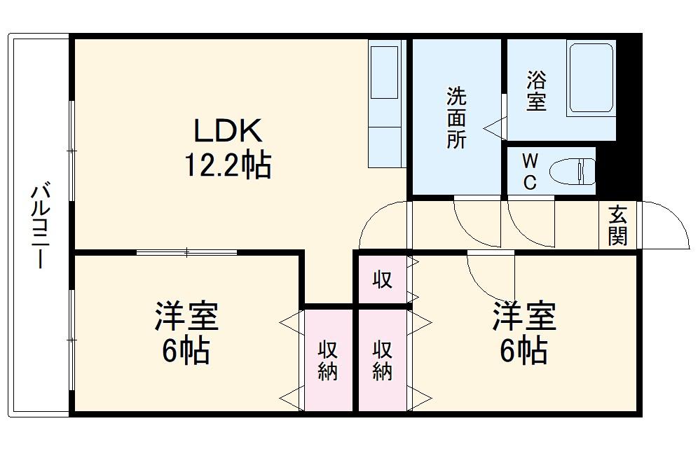 サンパークマンションⅠ 103号室の間取り