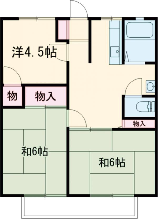 宝積寺ハイツC・205号室の間取り