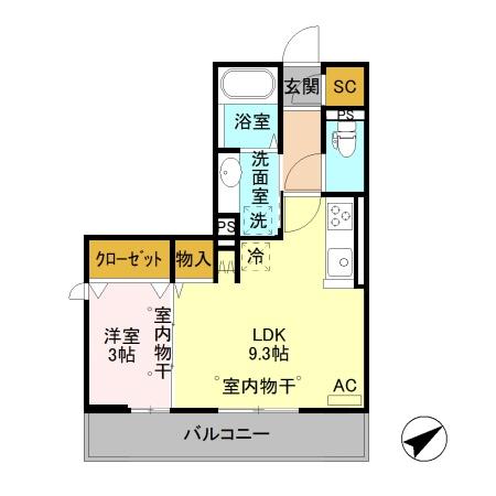 ステラート 住居・303号室の間取り