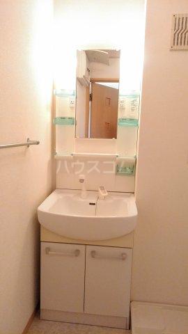 リロイコア WEST 201号室の洗面所