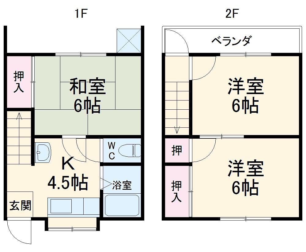 品川三喜コーポ・4号室の間取り