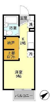 D-Room KASUGA 101号室の間取り
