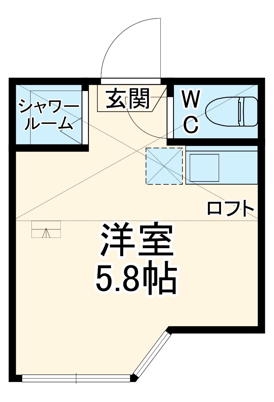 ユナイト中野島ジャン・レノ 205号室の間取り