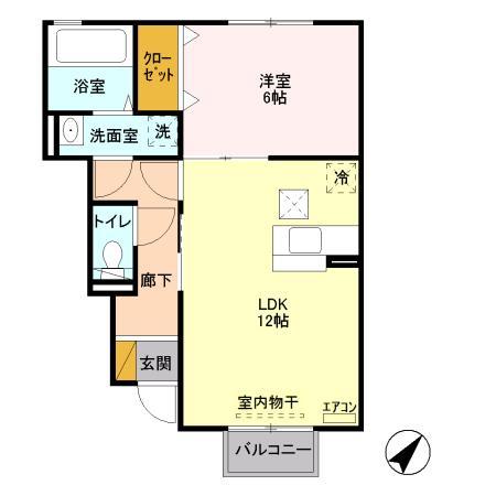サンモール 102号室間取り図