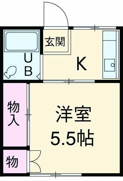 YUハイムA・203号室の間取り