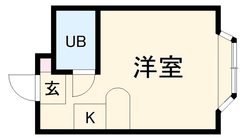 ベルピア・鶴ヶ峰第2・204号室の間取り