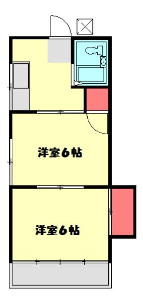 セトハイツA・201号室の間取り