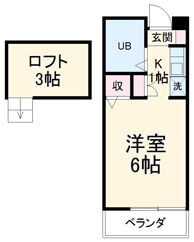 池田ハイツA・204号室の間取り