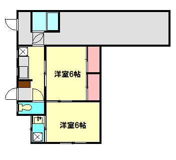戸田アパート・101号室の間取り