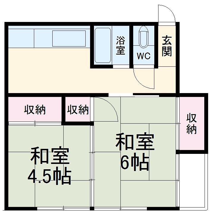 小川アパート・201号室の間取り