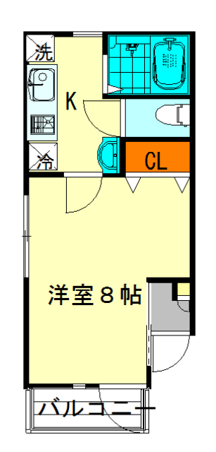 GOLDEN HOUSE新小岩 102号室の間取り
