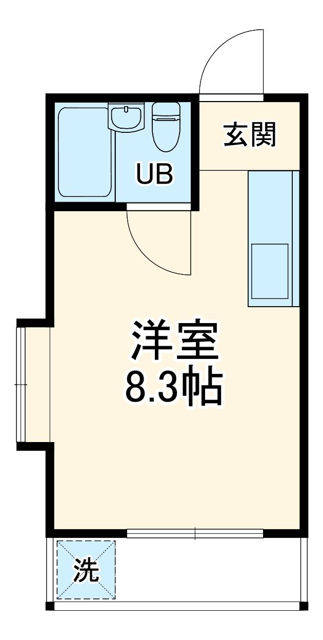 ピコラ永井・102号室の間取り
