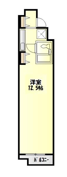 第2中庭ビル・302号室の間取り