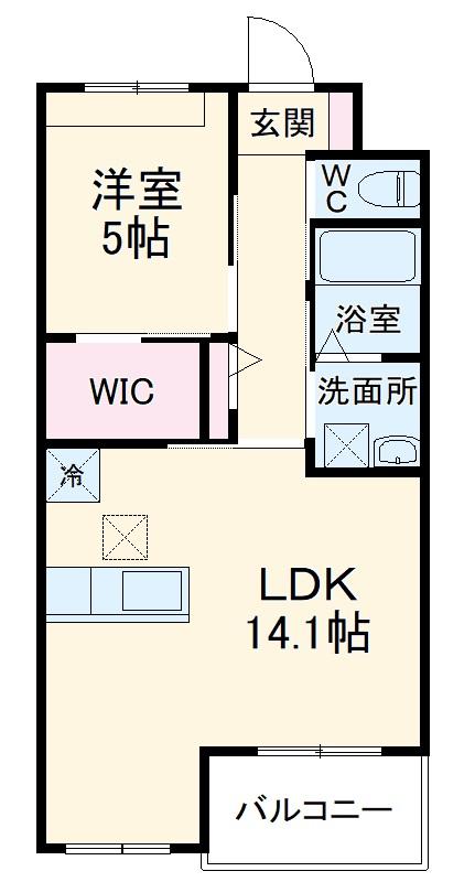 小田原市飯泉マンション新築工事・304号室の間取り