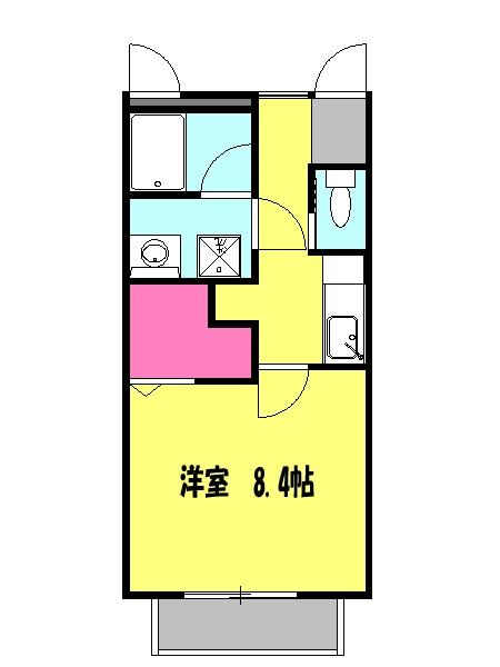 ジ・アパートメント下堀・205号室の間取り