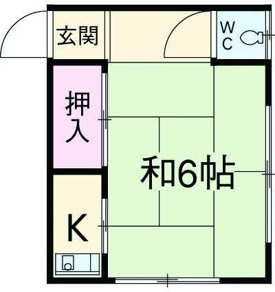 今井荘・1号室の間取り