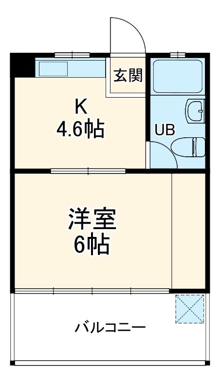 栄町マンション 3C号室の間取り