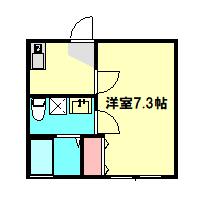 ベルウッド小田原 102号室の間取り