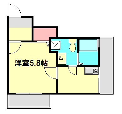ベルウッド小田原 303号室の間取り