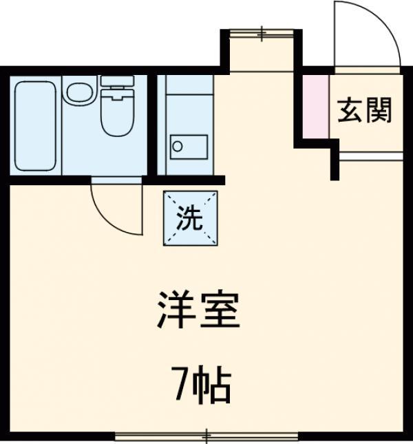 カーサ稲垣・1-B号室の間取り