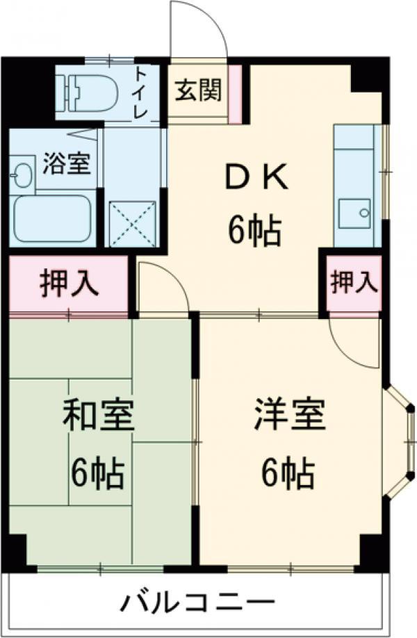 第二清水マンション・305号室の間取り