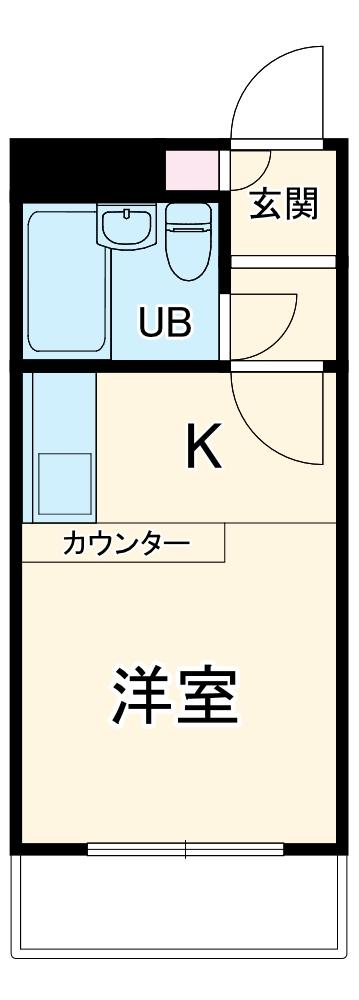 ベルピア二俣川・102号室の間取り