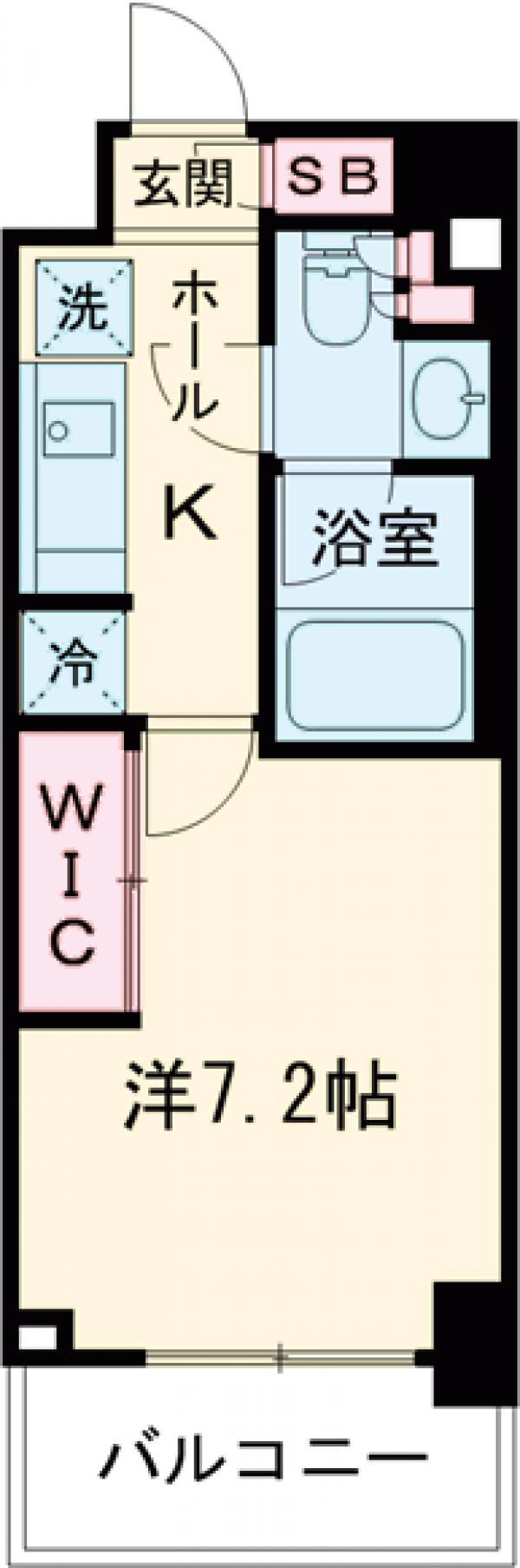 パークリュクス亀戸ステーションサイド・408号室の間取り