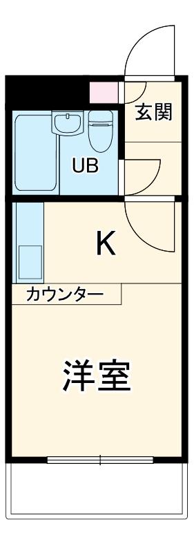 ベルピア二俣川・202号室の間取り