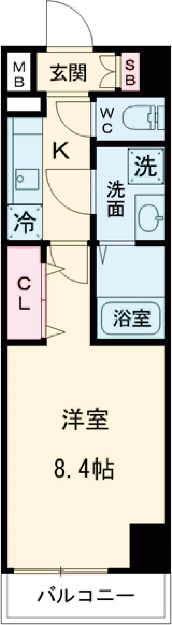 ジェノヴィア錦糸町Ⅱスカイガーデン・103号室の間取り