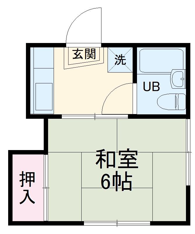 村田アパート・2号室の間取り