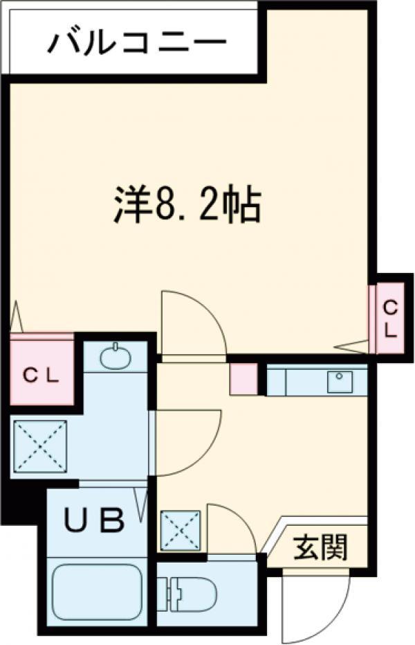 セントハウス横川・502号室の間取り