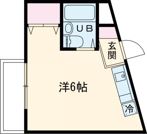 ウィンベルソロ曳舟第3・308号室の間取り