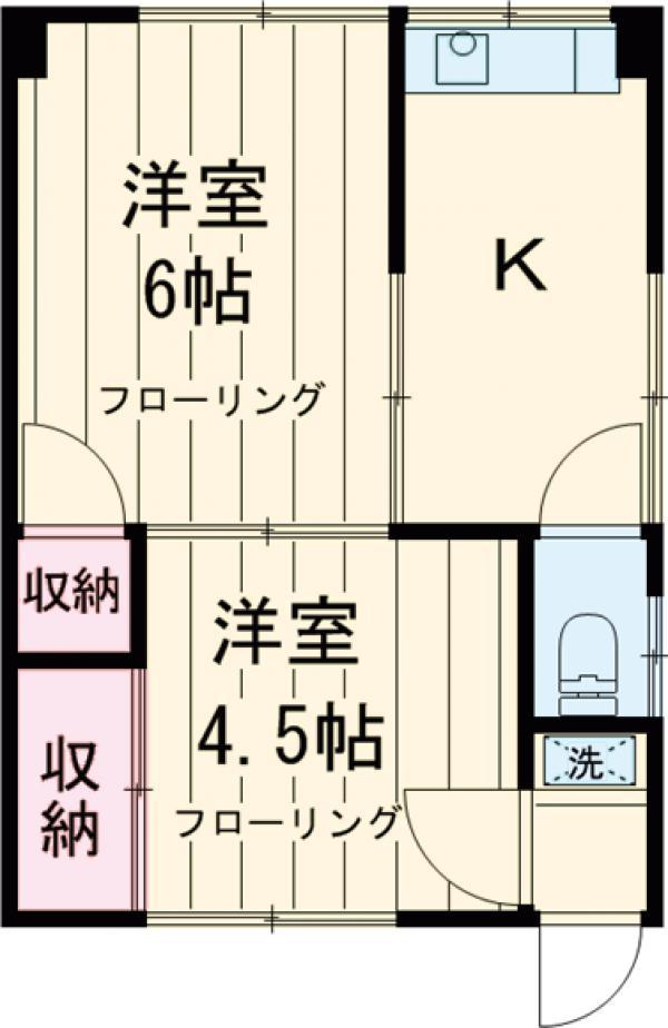 秋山マンション・302号室の間取り