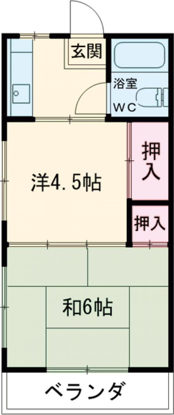 鎌倉スカイマンション 302号室の間取り