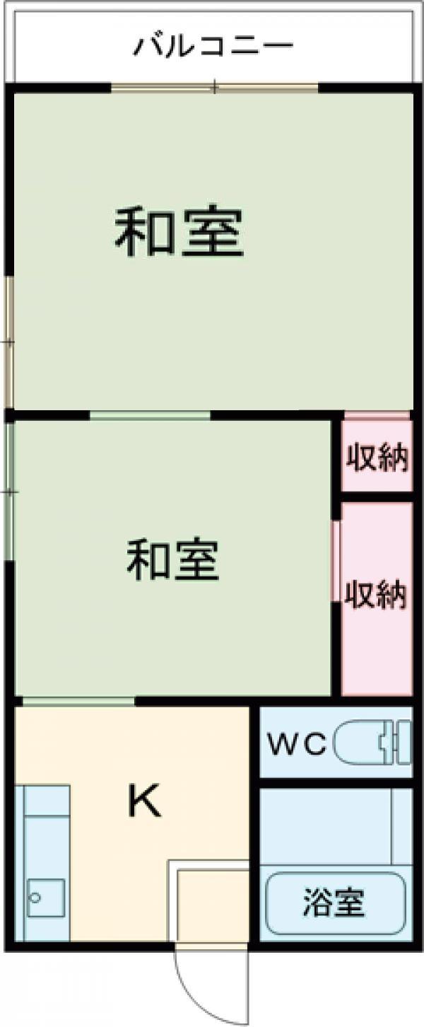 第五昇仙荘 203号室の間取り