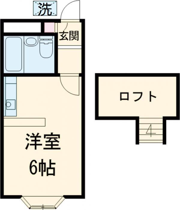 ベルピア姫宮第1・205号室の間取り