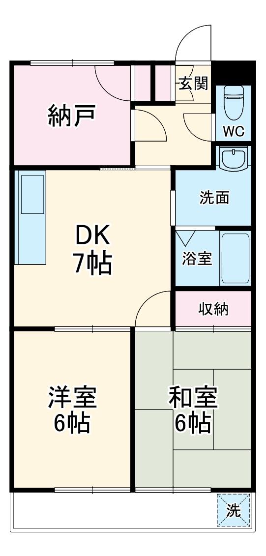 オオツキアパート 302号室の間取り