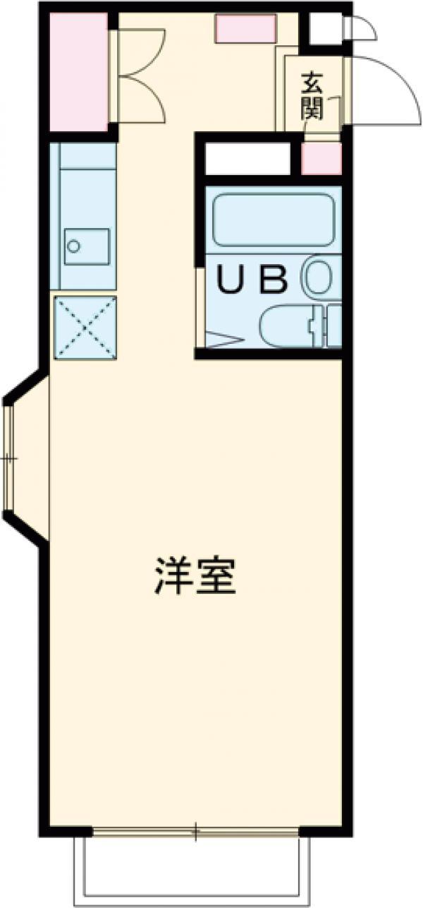 サンハイツⅢ・103号室の間取り