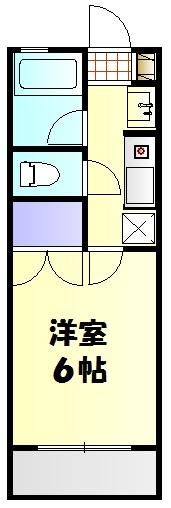 リバーサイド斉藤 202号室の間取り