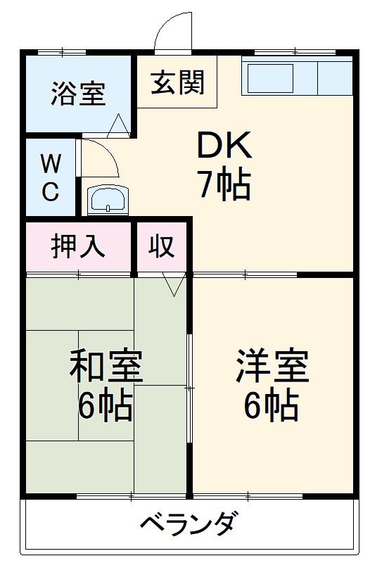 駒崎マンション・303号室の間取り