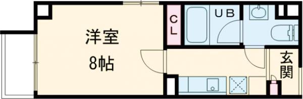 アリカ錦糸町PRESSO・401号室の間取り