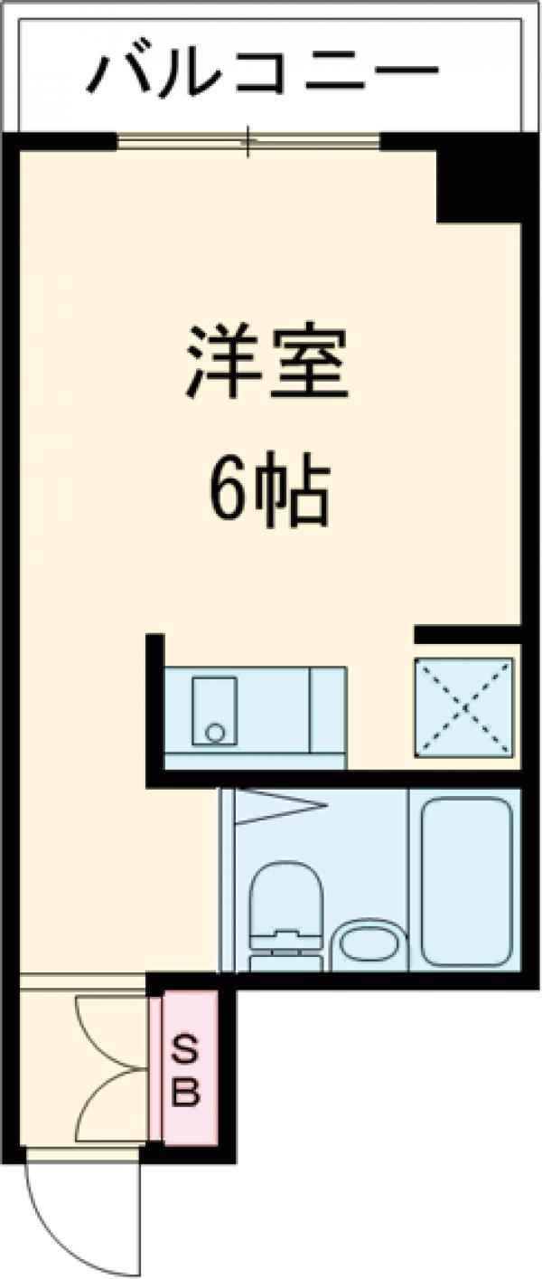エルム菊川・303号室の間取り