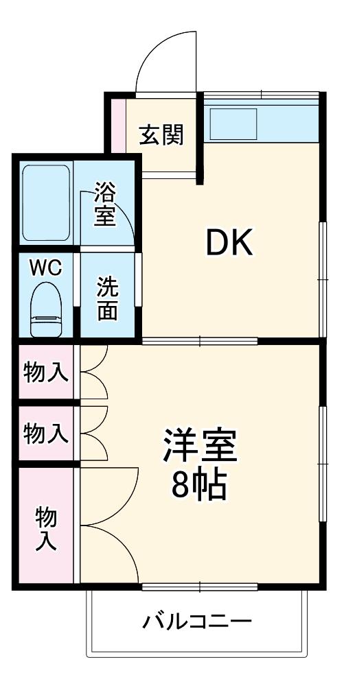 リバーサイド姫宮・105号室の間取り